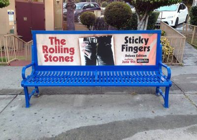 The Rolling Stones Bus Bench Advertising