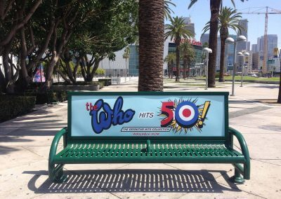 The Who Bus Bench Ad Staples Center